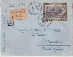 FRANCE : PA . N° 29 . SEUL SUR LETTRE . EN VD . CHARGEE . DE VINCENNES . POUR MADIRAN . 1951 . - Poste Aérienne