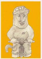 Cpm 1741/679 ERGON - Homme à Bicyclette - Chat - Vélo - Cyclisme - Bicycle - Illustrateur - Peintre - Ergon