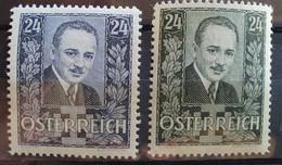 """Österreich 1934/35, Mi 589-90 MNH Postfrisch """"Dollfuß"""" - Nuevos"""