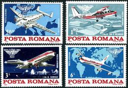 Roumanie Romania Rumanien 1984 OACI ICAO 40 Ans Lockheed Super Electra, B-N Islander, Rombac 1-11, Boeing 707 - Aerei