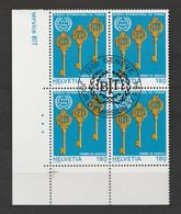 Schweiz 1994 Vierblock Gestempelt 110 75 Jahre Internationale Arbeitsorganisation - Officials