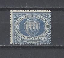 SAINT-MARIN.  YT   N° 3  Neuf *   1877 - Unused Stamps