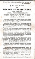 Oorlog 40 45 - VANBESELAERE Hector  ) Merkem 1878  - + Langemark 1943 - Religion & Esotérisme