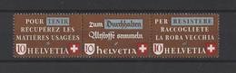SUISSE.  YT   N° 375/377  Neuf **   1942 - Unused Stamps