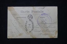 MAROC - Cachet De Dépôt Des Isolés De Casablanca Sur Carte Postale Pour Les Pays Bas En 1917 Avec Contrôle  - L 89780 - Lettres & Documents