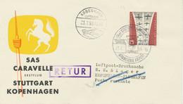 """BERLIN 1959, Erstflug SAS First Caravelle Jet Flight """"STUTTGART – KOPENHAGEN"""" - Cartas"""