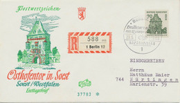 BERLIN 1965, 70 Pfg. Bauten Portogerechte EF A. Kab.-FDC Als R-Bf. Gel. - Cartas