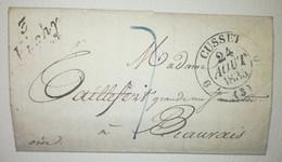 Lettre 1835 - 3 Vichy Pour BEAUVAIS - Cad.11-3 CUSSET - 1801-1848: Précurseurs XIX