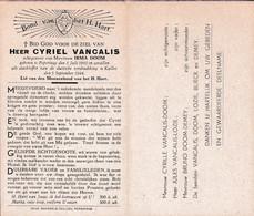 Oorlog 40 45 -VANCALIS Cyriel ° Poperinge 1902 - + Kalloo 1944 - Religion & Esotérisme