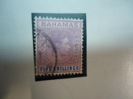 BAHAMAS USED STAMPS  1938 FIVE SHILLING - Bahamas (1973-...)