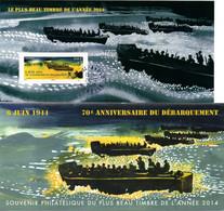FRANCE Yvert  Bloc Souvenir N°114 70ème Anniversaire Du Débarquement Soldats Débarquant Des Barges Oblitéré - Souvenir Blokken