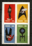 "USA.  Série Télévisée ""Star Trek"", Forever Stamps. Bloc De 4 Neufs ** Adhésifs USA Année 2016 - Film"