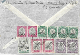 Johannesburg To Muenchen - Circulated Letter With 5 Pairs+ On Back 1937 (18 Euros For Stamps Alone) - Briefe U. Dokumente