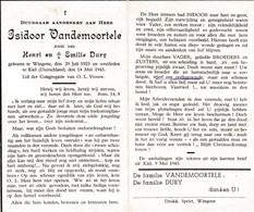 Oorlog 40 45 VANDEMOORTELE Isidoor ° Wingene 1923  + Kiel(D) 1943 - Religion & Esotérisme