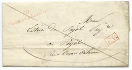 MARQUE POSTALE / CURSIVE CUXAC CARBARDES / PORT PAYE / SAINT DENIS 1841 - 1801-1848: Précurseurs XIX