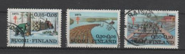 (S2012) FINLAND, 1971 (Anti-Tuberculosis Fund). Complete Set. Mi ## 686-688. Used - Oblitérés