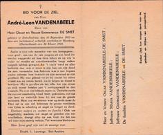 Oorlog 40 45 Luchtaanval - VANDENABEELE André ° St Andries 1923 - + Hamburg (D) 1945 - Religion & Esotérisme