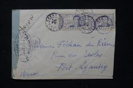 SÉNÉGAL - Enveloppe  Par Avion De Dakar Pour Le Maroc ( Port Lyautey ) En 1943 Avec Contrôle Postal - L 89789 - Storia Postale