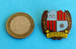 STOKE CITY FC - SUPPORTERS CLUB ... Ultras Football Pin Badge * Reissued 2001 * Soccer Fans Fussball Foot Calcio England - Football