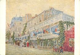 Art - Peinture - Vincent Van Gogh - Le Restaurant De La Sirène - CPM - Voir Scans Recto-Verso - Peintures & Tableaux