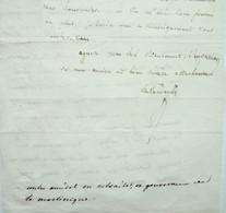 Contre-Amiral Duval D'Ailly, Informations Sur La Perte De La Frégate L'Elisa Près Du Havre, 1810 - Handtekening