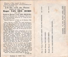 Oorlog 40 45 VAN DEN BURIE Roger ° Machelen ° 1924 - + Villers St Paul (Fr )  1944 - Religion & Esotérisme