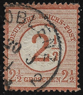 DEUTSCHES REICH - 1874 - Valore Usato Da 2,1/2 G, Bruno Rosso Soprastampato - In Buone Condizioni - Oblitérés
