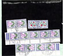 Pli De Douane 260 Mulhouse 15/1/1979 Taxe Dédouanement DOUBLE Pour 2 Envois à 12F Dont 1 Paire Et 2 Bandes Du 1F Fleur - 1960-.... Briefe & Dokumente