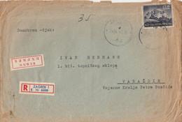 Croatia NDH Registered + Express Cover Zagreb 1943 Sen To Varazdin , Feldpost - Croatia
