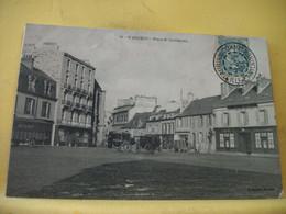 22 7237 CPA 1905 - INCONNU SUR DELCAMPE. 22 SAINT BRIEUC. PLACE ST GUILLAUME - COMMERCES. ATTELAGES. - Saint-Brieuc