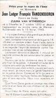 Oorlog 40 45  Kamp - VANDENDOOREN Joan ° Ellezelles 1893 - + Weimar - Busckenwald (D) 1945 - Religion & Esotérisme