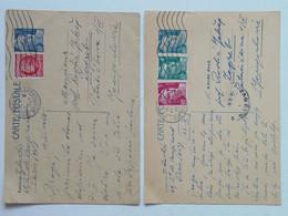 Carte Postale X2 8FR + 3F + 4F / 1FR + 5FR Paris 27. IV 1949 -> ZGB 1948 - Briefe U. Dokumente