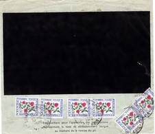 Pli De Douane 260 Strasbourg Taxe Dédouanement TRIPLE Pour 3 Envois Neudorf 16/6/1970 à 3F Par 6 X 0,50F Fleur - 1960-.... Briefe & Dokumente