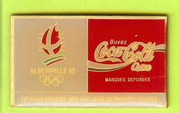 Pin's Coca-Cola JO Jeux Olympiques Albertville '92 Sponsor Officiel Des XVI Jeux Olympiques D'Hiver  - 4P01 - Jeux Olympiques