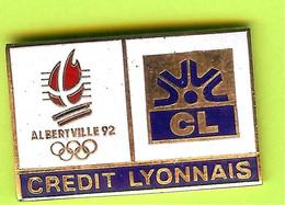 Pin's JO Jeux Olympiques Albertville '92 Crédit Lyonnais - 4P02 - Jeux Olympiques