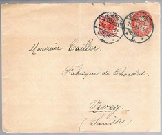 Danmark, 1903, For Vevey - Lettres & Documents