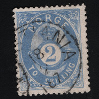 1874 Freimarke Mi NO 17a Sn NO 17 Yt NO 17 Sg NO 36 AFA NO 17 Nor NO 17cX Gepr. Prooved Zenker VÖB S. Scan - Used Stamps