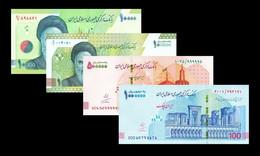 New! Iran 2021 1000 10000 500000 1000000 UNC Riyals P-NEW Complete Set - Iran