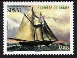 St. Pierre & Miquelon - 2021 - Sailing Ships - Colonial Schooner - Mint Stamp - Neufs
