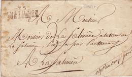 22907# LETTRE 75 CHATILLON SUR SEVRE 42x 16mm IMPRIME 1825 DEUX SEVRES Pour PARTHENAY LA FATINIERE SATINIERE - 1801-1848: Précurseurs XIX