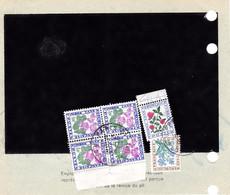Pli De Douane 260 Paris Taxe De Dédouanement MULTIPLE 4,80F Pour 6 Colis 16/12/1969 Par Bloc De 4 Du 1F Notamment - 1960-.... Briefe & Dokumente