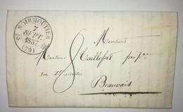 Lettre 1837 - NOIRMOUTIER Pour BEAUVAIS - 1801-1848: Précurseurs XIX