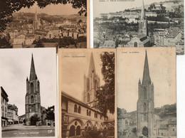 19. 5 CPA. TULLE . La Cathédrale - Le Marché - Le Lycée - Commerces - Scan Du Verso - - Tulle