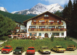 "VW Golf,Opel Rekord E,Talbot Tagora,Ford Granada,Mercedes -8 W114,Krün,Alpengasthof ""Barmsee"", Gelaufen - Turismo"