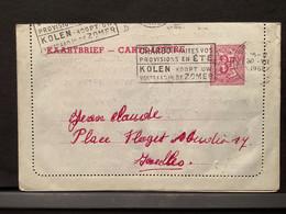 Kaartbrief 1962 BRUSSEL X 16-17 30 VII 1962 Naar Ixelles - Cartes Postales [1951-..]