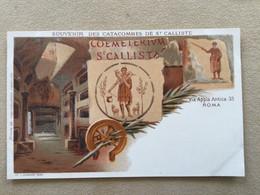 Lot De 7 CP:   Souvenir Des Catacombes De Saint Calliste- Roma - Other
