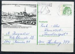"""Germany,Allemagne  1986 Bildganzsache""""Hornburg-Alter Stich""""Mi.Nr.P130,h9/144 Mit MWST""""Bremen""""1 GS Used - Postales Ilustrados - Usados"""