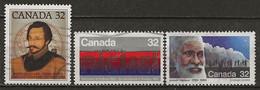 CANADA: Obl., N° YT 853, 854 Et 855, TB - Usados