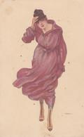 CPA  Fantaisie Art Nouveau Art Déco Jeune Femme Illustrateur Italien     (lot Pat 143) - Other Illustrators