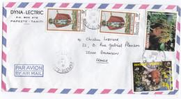 POLYNESIE :  Divers Sur Lettre De Papeete Pour Besançon CaD De Tahiti - Briefe U. Dokumente